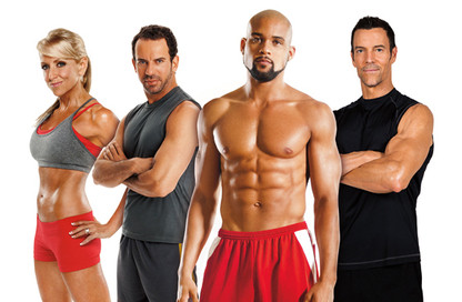 Image of a line-up of professional personal trainers, fitness instructors and wellness coaches.