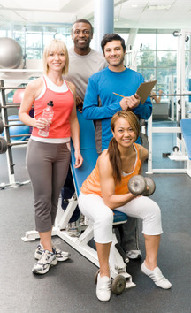 Picture of a group of certified fitness professionals and trainers.