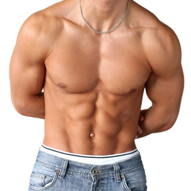 Image of a fitness client with well-defined muscles.